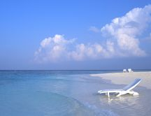 Beautiful holiday in Maldives - blue water