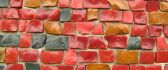 Colorful brick wall - art design