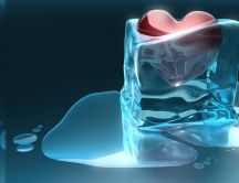 Ice melts from the heat of the heart