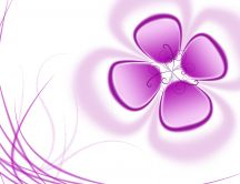 Pink flower - art design