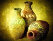 Very old pottery - art HD wallpaper