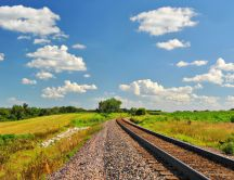 Summer landscape - the railway