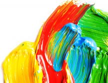 Color paint on the wall - drawing HD wallpaper
