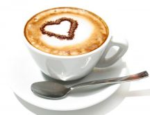 Delicious coffee in the morning - cream and love