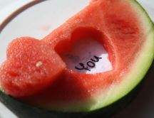 Fresh watermelon - I love you