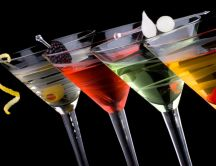 Delicious clubbing drink - martini with fruits