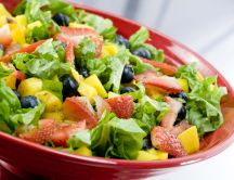 Fruit and vegetable salad - summer vitamins