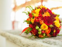 Bridal bouquet - beautiful colored flowers