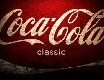 Logo painted on a wall - Coca-Cola classic