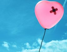 A patch on a balloon - love overcomes any