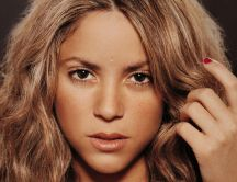 Famous blonde singer - beautiful Shakira