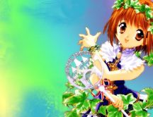 Anime girl with magical powers - HD wallpaper