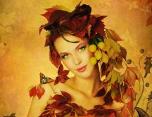Beautiful princess of nature - autumn season is here