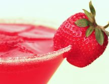 Delicious summer drink - strawberry fresh