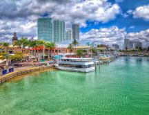 Beautiful landscape from Miami Beach Florida