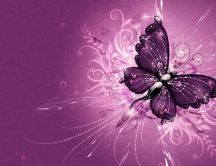 Wonderful purple wings of a butterfly - HD wallpaper