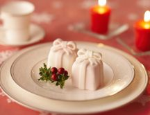 Two sweet cake presents - romantic dinner