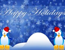Funny penguins - Happy Winter Holidays