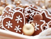 Delicious Christmas cookies with cinnamon