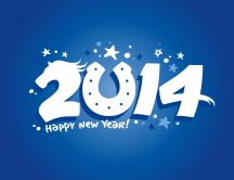 Blue wallpaper - Happy new year 2014