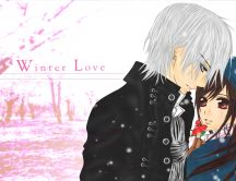 Beautiful winter moments - anime lovers
