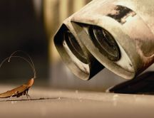 Wall-E and his little friend - the cockroach