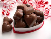 Delicious present - chocolate hearts