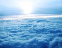 Wonderful fluffy carpet of clouds - HD wallpaper