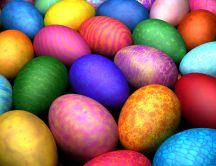 Beautiful painted eggs - Happy Easter holiday