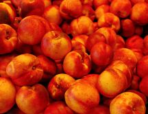 Hundreds of delicious peaches - eat healthy