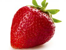 Big red strawberry - Macro HD wallpaper