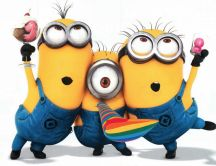 Funny minions from movie Despicable Me