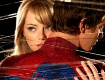 Amazing poster with Spiderman and his girlfriend