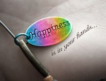 Happiness is in your hands - HD beautiful wallpaper