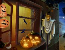 Pumpkins and ghosts - Happy Halloween party