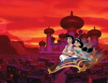 Aladdin and the Princess - Beautiful childhood cartoons