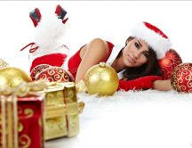 Beautiful Girl - Happy Christmas Holiday