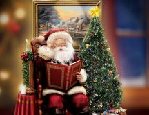 Santa Claus story reading - Beautiful Christmas tree