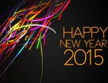 Happy New Year 2015 - Colourful Ribbons
