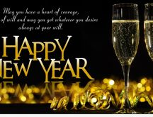 Golden champagne for a Happy New Year - HD 2015 wallpaper