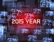 New Year 2015 - binary code HD wallpaper