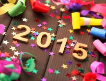 Confetti and stars - Happy New Year 2015