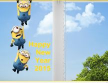 Funny wallpapers with minions - Happy New Year 2015