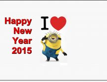 Happy New Year 2015 - I love minions