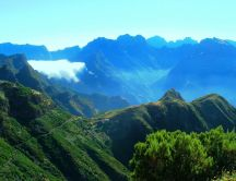Wonderful landscape from mountains of Madeira Island