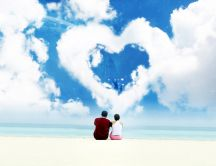 Love on a beautiful beach - HD wonderful wallpaper