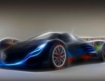 New prototype for a sport car - HD wallpaper