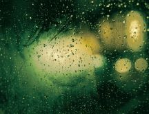 Green rainy day - HD abstract wallpaper