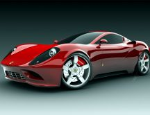Red beautiful Ferrari sport car - HD wallpaper
