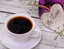 Black coffee in the morning - love you